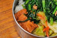 Pasto vegetariano di riso e delle verdure mixed immagini stock libere da diritti