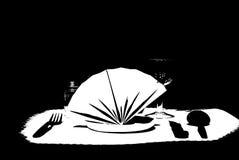 Pasto vino nero/bianco Fotografia Stock Libera da Diritti