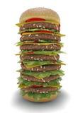 Pasto XXL dell'hamburger Fotografia Stock Libera da Diritti
