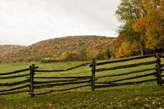 Pasto y cerca del otoño fotografía de archivo libre de regalías