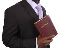 Pastor. This is an image of man holding a bible Royalty Free Stock Photography