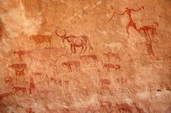 Pastor Cave Painting Foto de Stock