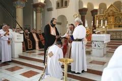 Pastor Ceremony in Berlijn stock afbeelding