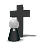 Pastor and christian cross Stock Images
