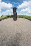 Pastor de piedra del menhir - opinión de lente de ojo de pescados Fotografía de archivo