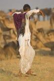 Pastor del camello Foto de archivo
