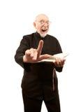 Pastor, der eine brennende Predigt gibt lizenzfreie stockfotografie