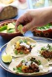 Pastor do al dos tacos, alimento mexicano imagem de stock