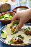 Pastor do al dos tacos, alimento mexicano imagem de stock royalty free