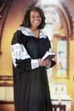 Pastor feliz de la mujer Foto de archivo