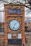 Pastor Gate Clockat no obervatório real em Greenwich Fotografia de Stock