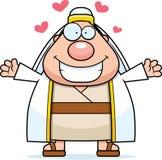 Pastor Hug dos desenhos animados ilustração royalty free
