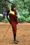 Pastor joven Turkana (Kenia) fotografía de archivo