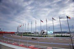 Pastor Maldonado of Lotus F1 Team. Formula One. Sochi Russia Royalty Free Stock Photography