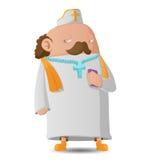 Pastor Man Character Cartoon Design vektor vektor illustrationer
