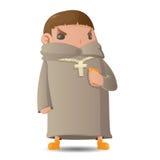 Pastor Man Character Cartoon Graphic vektor stock illustrationer