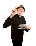 Pastor que da sermón ardiente Imágenes de archivo libres de regalías