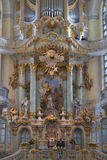 Pastor sermon in Dresden Frauenkirche stock images