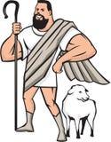 Pastor Sheep Standing Cartoon do super-herói Fotografia de Stock