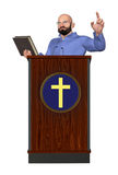 Pastor Teaching Word Of God Podium Illustration. A pastor giving biblical teachings Royalty Free Stock Photography