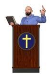 Pastor Teaching Word Of God-Podiumillustratie stock illustratie