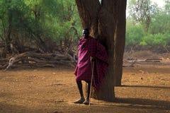 Pastor Turkana (Kenia) fotos de archivo libres de regalías