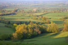 Pastoraal platteland in de Lente, Engeland Royalty-vrije Stock Foto