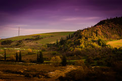 Pastoral Autumn Landscape Environment Stock Images