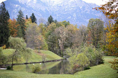 Pastoral Beauty. This pastoral scene is located in Germany near the Linderhof Château Royalty Free Stock Images