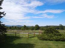 Pastoral 2 (Fence for horses). Picture presents the Pastoral (Fence for horses), country side, summer day Royalty Free Stock Photo