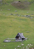Pastoral hut. On meadow in mountain, Bosnia and Herzegovina stock image