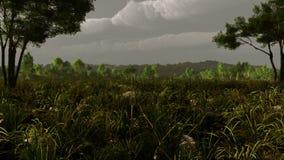 Pastoral Landscape Storm royalty free stock image