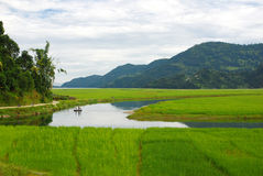 Free Pastoral Landscape Under Clouds Sky Royalty Free Stock Image - 11474256