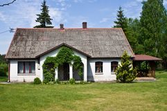 Pastoral rural house in northern Poland stock image