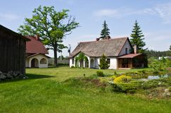 Pastoral rural house in northern Poland stock images