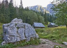 Pastoral sheds in the Strazyska valley in the Tatra Mountain Royalty Free Stock Images