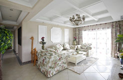 The pastoral style living room Stock Images