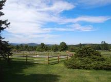 2 pastorales (cerca para los caballos) Foto de archivo libre de regalías