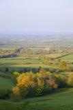 Pastoralna wieś w wiośnie, Anglia Fotografia Stock