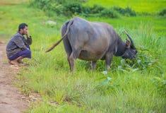 Pastore birmano nel Myanmar Fotografie Stock