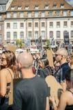 Pastore del mare che protesta contro l'arresto delle balene pilota di macello di Fotografie Stock Libere da Diritti