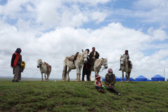 Pastores tibetanos Foto de archivo