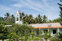 0027-pastorie huis bij platteland - - Bentre-provincie Stock Fotografie