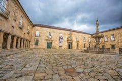 Pastorie van de Universiteit van de Minho/Vierkant Stadscentrum, Braga, Portugal royalty-vrije stock afbeelding