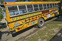 Pastors for Peace yellow bus in Havana, Cuba Royalty Free Stock Image