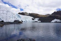 Pastoruri冰川,秘鲁安第斯山 免版税库存照片