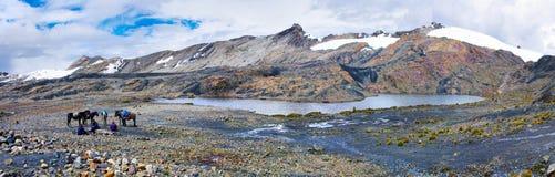 Pastoruri glaciär i Cordillera Blanca, Peru Royaltyfri Bild