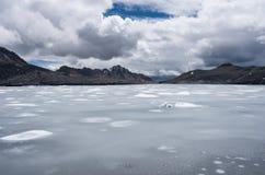 Pastoruri glaciär i Cordillera Blanca, Peru Royaltyfria Bilder