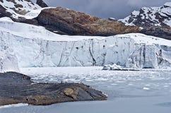 Pastoruri glacier in Cordillera Blanca. Northern Peru Royalty Free Stock Photos