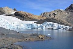 The Pastoruri glacier, inside the Huascarán National Park, Peru. The famous Pastoruri glacier, one of the touristical attractions of the Huascarán National Royalty Free Stock Photo